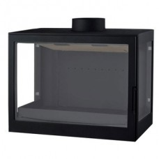 Печь L72 RL, два боковых стекла, черная Liseo