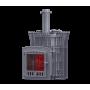 Печь для бани Гефест AVANGARD ЗК 30 (П) Ураган в сетке Тюльпан