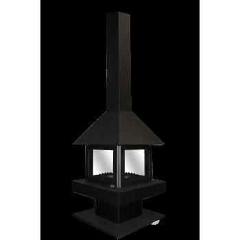 Печь-камин Эклипс островной 4D