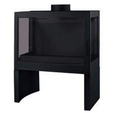 Печь L71 RL, два боковых стекла, черная Liseo