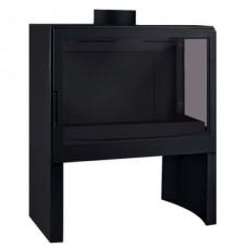 Печь L71 R, стекло справа, черная Liseo