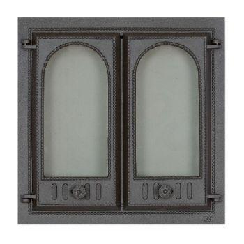SVT 400 чугунная каминная дверца  2-х створчатая без экрана