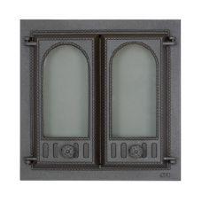 SVT 401 чугунная каминная дверца 2-х створчатая