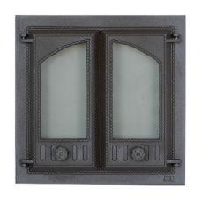 SVT 403 2-х створчатая чугунная каминная дверца без экрана