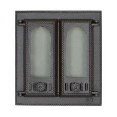SVT 408 2-створчатая каминная дверца из чугуна без экрана
