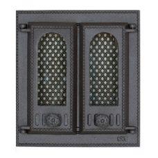 SVT 409 2-створчатая чугунная каминная дверца с экраном