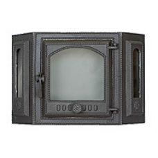 SVT 413 1 створчатая чугунная эркерная каминная дверца с углом 45
