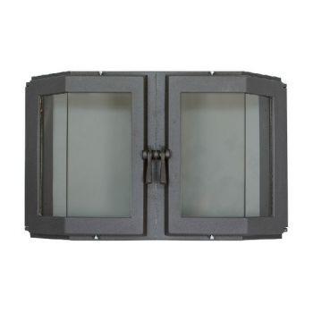 SVT 515 чугунная каминная эркерная дверца, 2 створки, герметичная