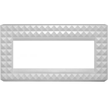 Каминокомплект Diamond - Бьянко белый с очагом Cassette 600 NH