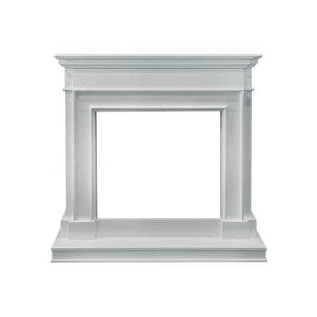 Белый портал для электрокамина Newport