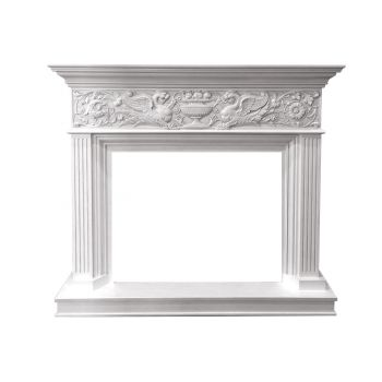Каминокомплект Palace - Белый с серебром с очагом Symphony 30'' DF3020-INT