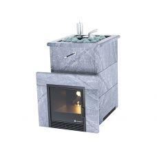 Печь для бани Easysteam Анапа в полноценном кожухе с открытым верхом
