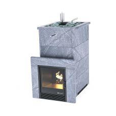 Печь для бани Easysteam Геленджик в полноценном кожухе с открытым верхом