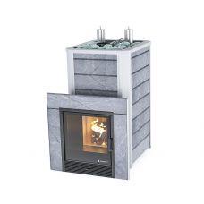Газо-дровяная печь Ялта 35 К в камне