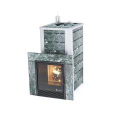 Банная печь Ялта 35 в камне с парогенератором