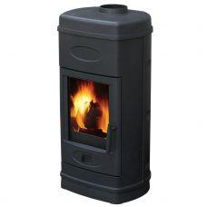 Печь-камин Plamen AURORA эмалированная, черная