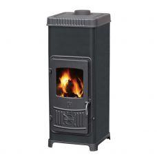 Печь-камин Plamen DORA 10 N, эмалированная, черная