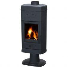 Печь-камин Plamen HANA эмалированная, черная