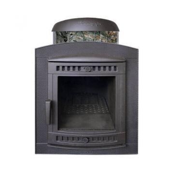 Печь для бани ПроМеталл Атмосфера в ламелях  Жадеит