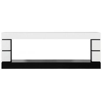 Каминокомплект Modern - Белый с черным с очагом Vision 60 LOG LED