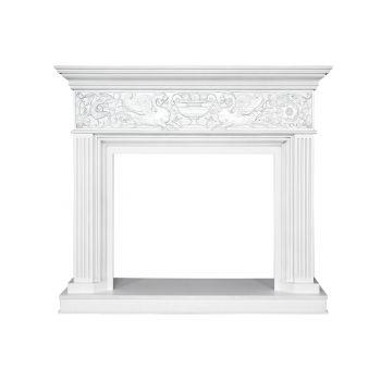 Каминокомплект Palace - Белый с серебром с очагом Vision 30 EF LED FX