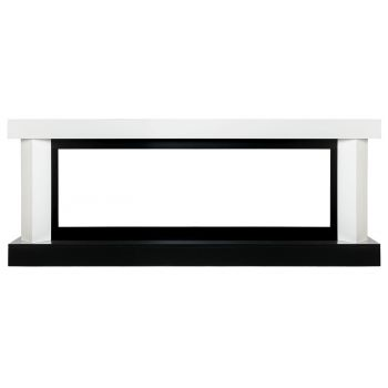 Каминокомплект Vancouver 60 - Белый с черным с очагом Vision 60 LOG LED